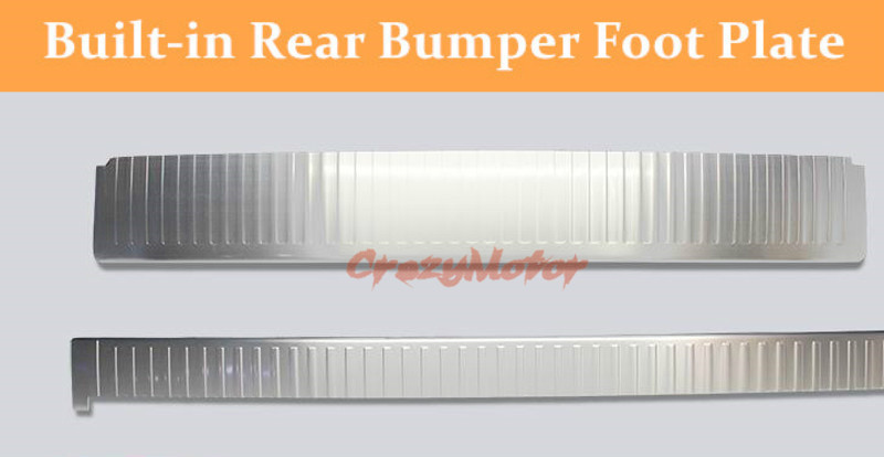 For Toyota Land Cruiser LC200 2008-2016 Stainless Built-in rear bumper foot plate trim 2pcs