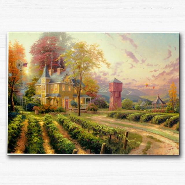 Stampe su tela Europa Thomas Paesaggio Dipinto Ad Olio su Tela di ...