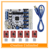3D Printer Parts Control Board GT2560 Support Dual Extruder Power Than ATmega2560 Ultimaker 5PCS A4988 5PCS