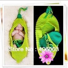 O Envio gratuito de Recém-nascidos roupas Feitas À Mão Do Bebê saco de dormir Pea Whit Beanie Chapéu Combinando Shorts Fotografia Prop Costume