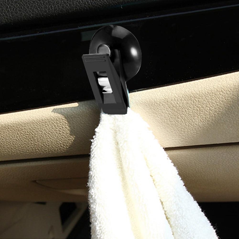 2 sztuk samochodów okno wewnętrzne zamontować czarny przyssawka klip plastikowe Sucker wymienny uchwyt na osłona przeciwsłoneczna ręcznik bilet