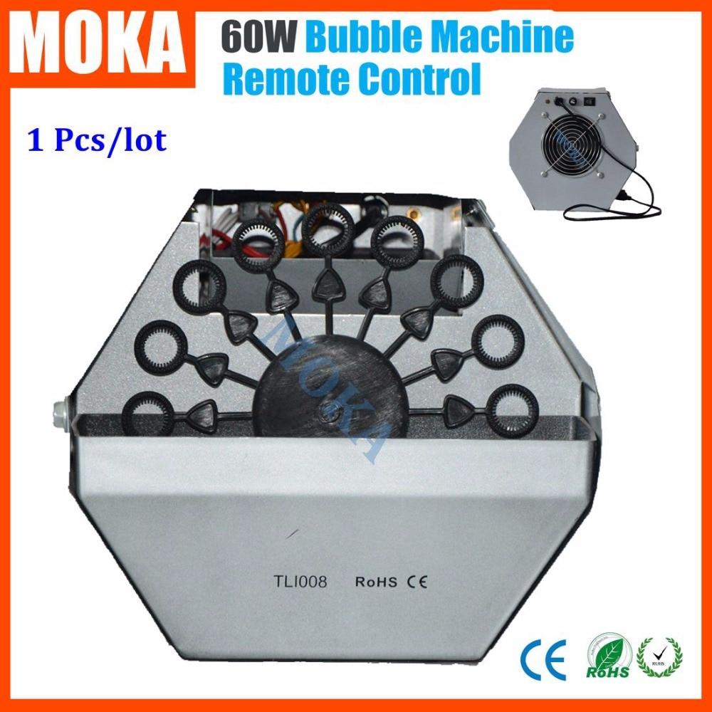1 Pcs Hot Sale 60w kids bubble machine blower auto wireless remote foam machine for DJ Disco Party Wedding Stage Effect