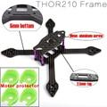 THOR210 Loki X5 verdadero X 210mm 210 5mm inferior 2.5mm superior Juego de Estructura de Fibra de carbono de Aluminio Tornillos Para Las Carreras de RC Drone Quadcopter