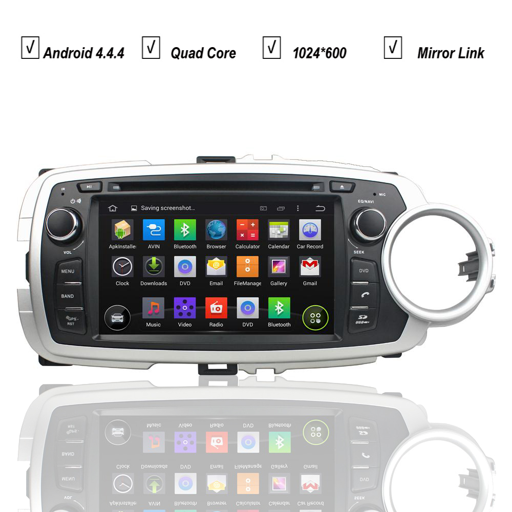 Car dvd player for toyota yaris hatchback 2012 2013 2014 2015 android 5 1 gps navigation stereo radio bluetooth mirror link wifi