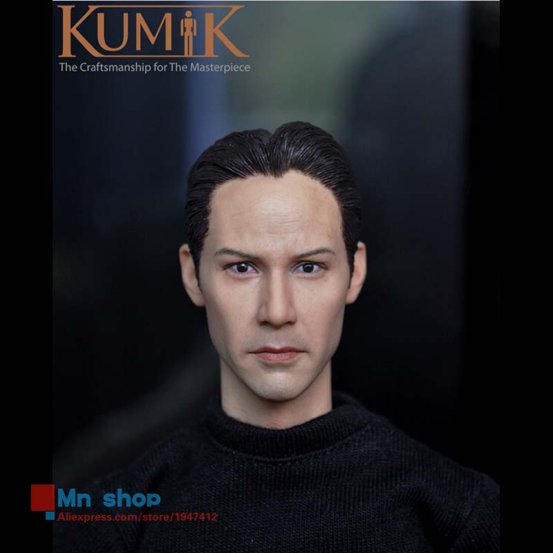 1/6 Male Head Sculpt Figure Accessories Keanu Reeves Matrix Neo Doll Headplay 12 Action Figure Collection Toys Gift KUMIK15-2 1 6 head sculpt male figure doll guardians of the galaxy star lord head carving 1 6 action figure acccessories juguete toys gift