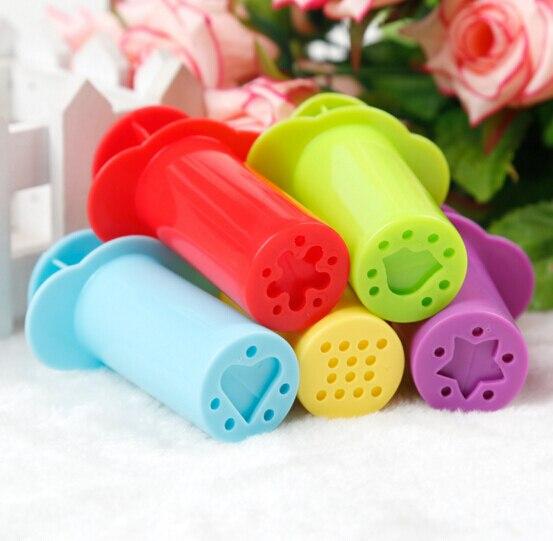 5pcs/set Plasticine Play dough Playdough Fimo Polymer Clay Intelligent Plasticine Tool Molds Kids Toys Clay Mold Toy