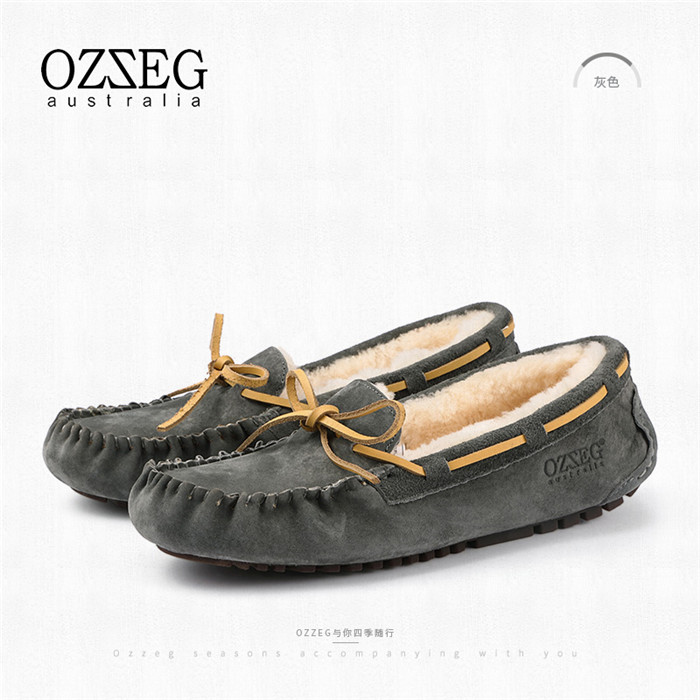 Women Genuime  Leder Flats Soft Warm Winter schuhes Ladie Real Fur Casual Loafers Ladie schuhes 2040a5
