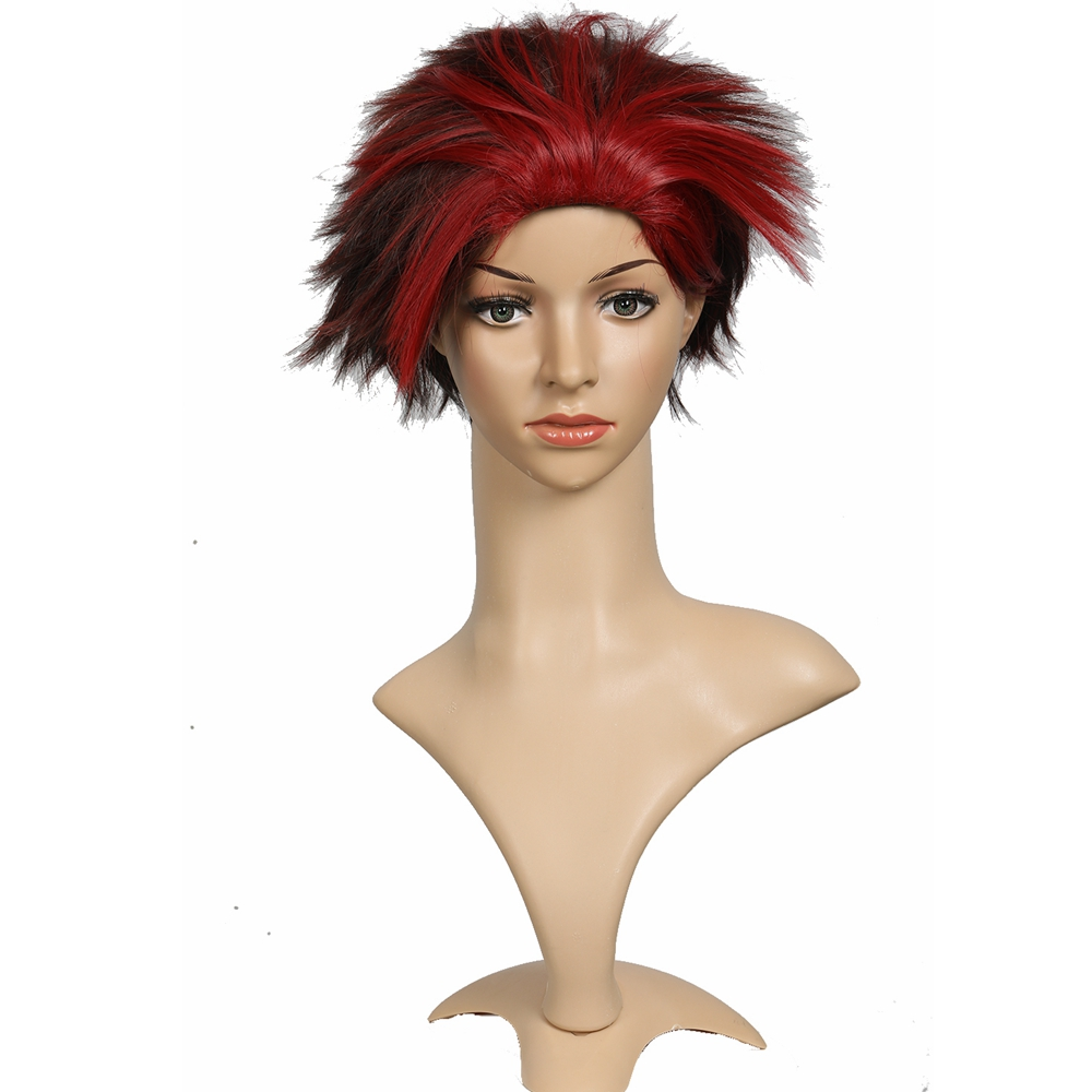 Ready Player One Artemis Movie Cosplay hair Props Red Short Synthetic Hairs Halloween Party Cosplay Hair hair Accessories