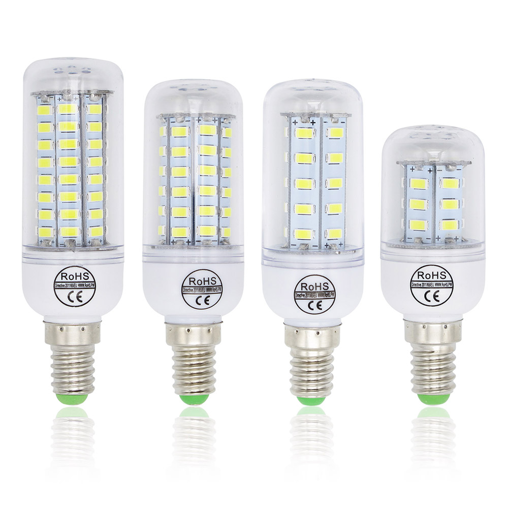1PCS 5730 SMD 24 36 48 56 69 72Leds E14 LED Bulb Lamp CFL 10W-30W AC220V 230V Led Spotlight For Indoor Lighting With CE ROHS