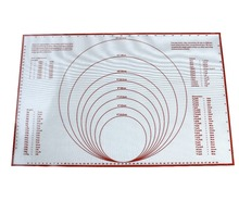 60*40cm Silicone Pastry Mat Non Slip With Measurements Large Thick Stick Baking Mats For Rolling Dough, Pie Crust
