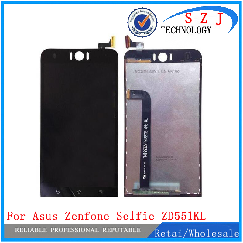 New 5.5'' inch LCD DIsplay + Touch Screen Panel Digitizer Assembly For Asus Zenfone Selfie ZD551KL Z00UD Free shipping  mc4 male female f m set in line fuse cable connector 3 10a use for solar panel