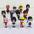 Naruto Figura Set Toy PVC Estatueta Figura de Ação 8 cm Brinquedos Clássicos 7 cm