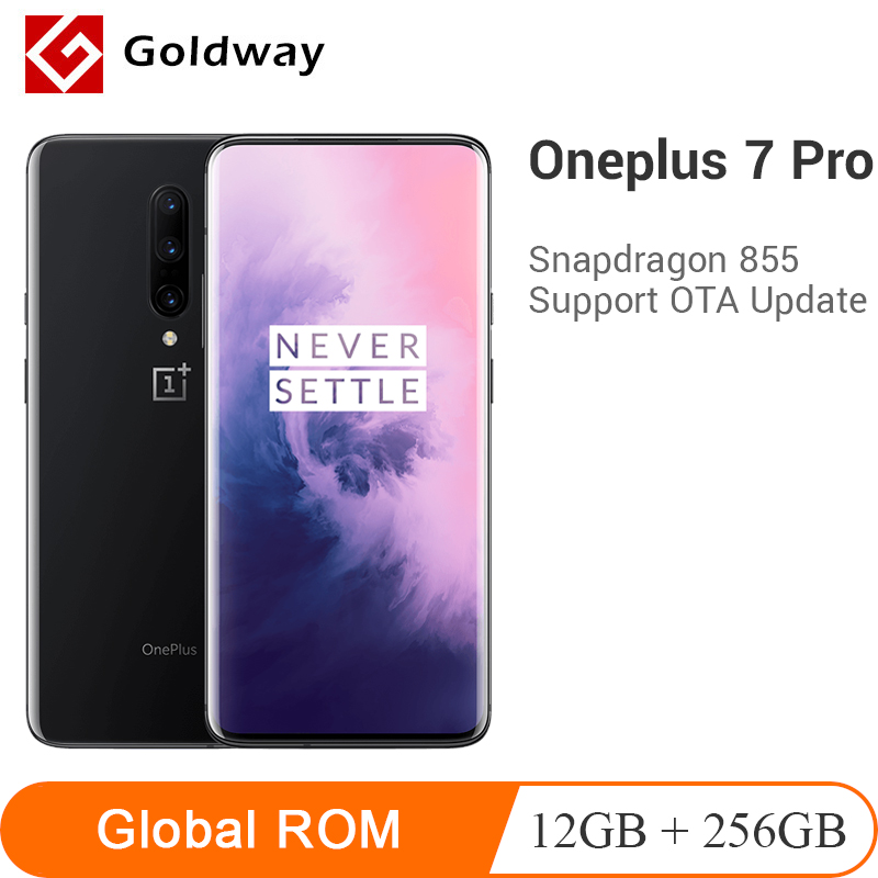 Global ROM Oneplus 7 Pro 12GB 256GB Smartphone Snapdragon 855 4000mAh 6.67 AMOLED 48MP 30W Fingerprint NFC Mobile Phone