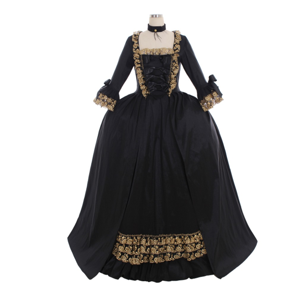 Cosplaydiy Custom Made 18th Century Colonial Black Rococo Belle Ball Gown Marie Antoinette Baroque Dress Wedding Dress L320 To Reduce Body Weight And Prolong Life Home