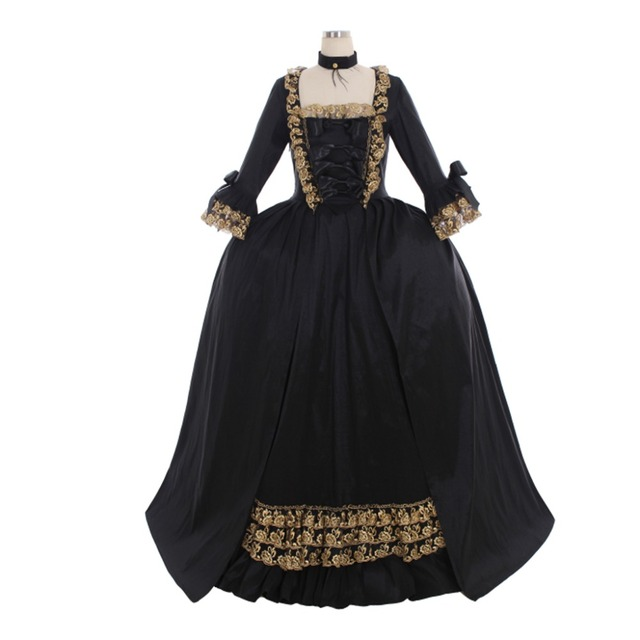 0df3841a2b19c US $14.99 |Cosplaydiy Custom Made 18th Century Colonial Black Rococo Belle  Ball Gown Marie Antoinette Baroque Dress Wedding Dress L320 on ...