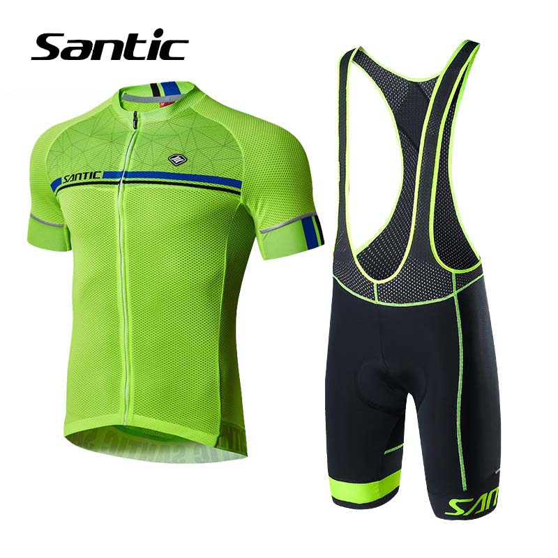 Santic Cycling Jersey Men Short Sleeve 2018 Pro Team Set Skinsuit Breathable Cycling Clothing Bike Wear Bicycle Clothes Kit free shipping spartacus men top sleeve cycling jersey polyester bike clothes black breathable cycling clothing size s to 6xl