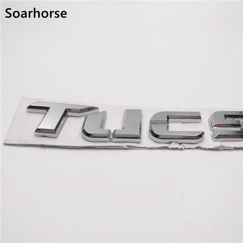 Soarhorse For Hyundai Tucson Letters Logo Decal Car Rear Gate Lid Emblem Badge Sticker 863102E000 soarhorse car rear trunk lid emblem badge nameplate decal for chevrolet cruze letters logo sticker