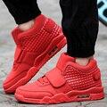 Высокий Верх Воздуха Спорт Корзина Обувь Мужчины Повседневная Дышащий Плоским Обувь Для Ходьбы Любителей Суперзвезда Красный Тренеры Zapatillas Hombre Отдыха