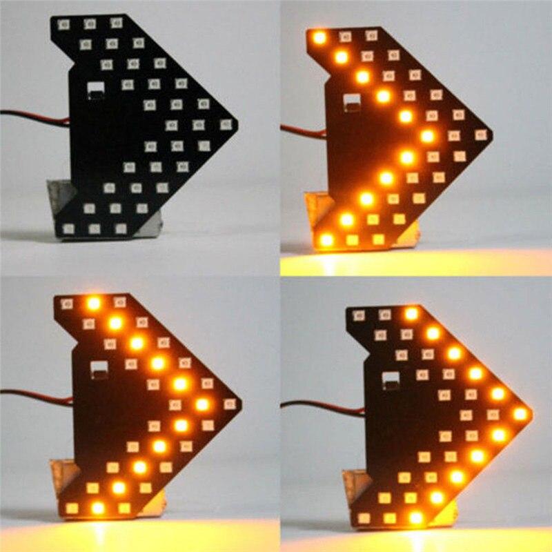 Panel de flechas de moda de vida útil ultralarga, nuevo espejo lateral de coche, 33SMD LED, bajo consumo, luz de señal de giro brillante, 12V #265758|Lámpara de señalización|   - AliExpress