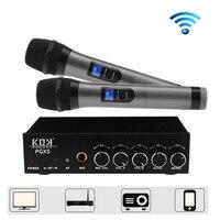 Bluetooth двойной Беспроводной ручной микрофон КТВ караоке микрофон UHF PLL Высокая чувствительность для Семья Свадебная вечеринка церкви