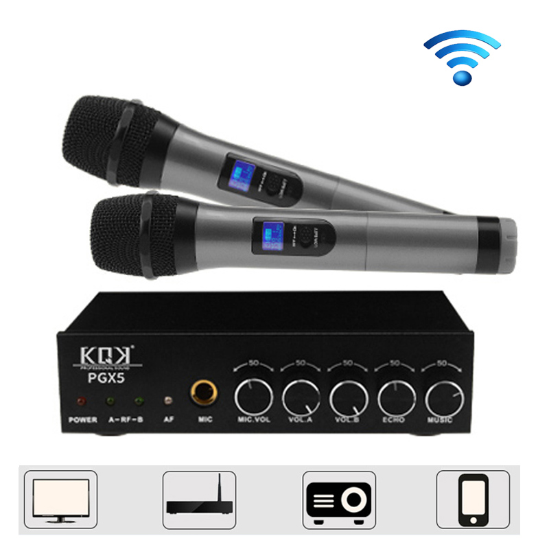 Bluetooth Dual Wireless Handheld Microphone KTV Karaoke Microphone UHF PLL High Sensitivity for Family Wedding Party Churches long distance signal receiving dual channel handhold professional uhf wireless microphone high sensitivity karaoke megaphone kit