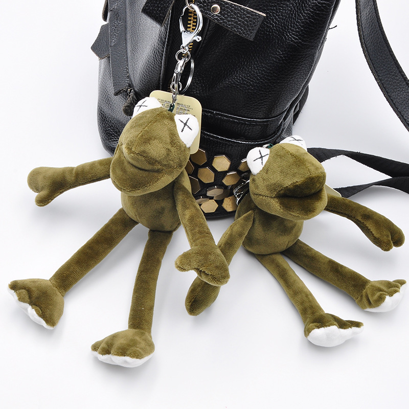 Hot Sale 20cm Plush Toys Long Legs Frogs Doll Stuffed Animal Kermit Toy Drop Shipping Holiday Keychain Gifts