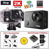 Free Shipping Gitup Git2 Pro 1080P WiFi 2K Sport Action Helemet Camera Outdoor DV Dual Charger