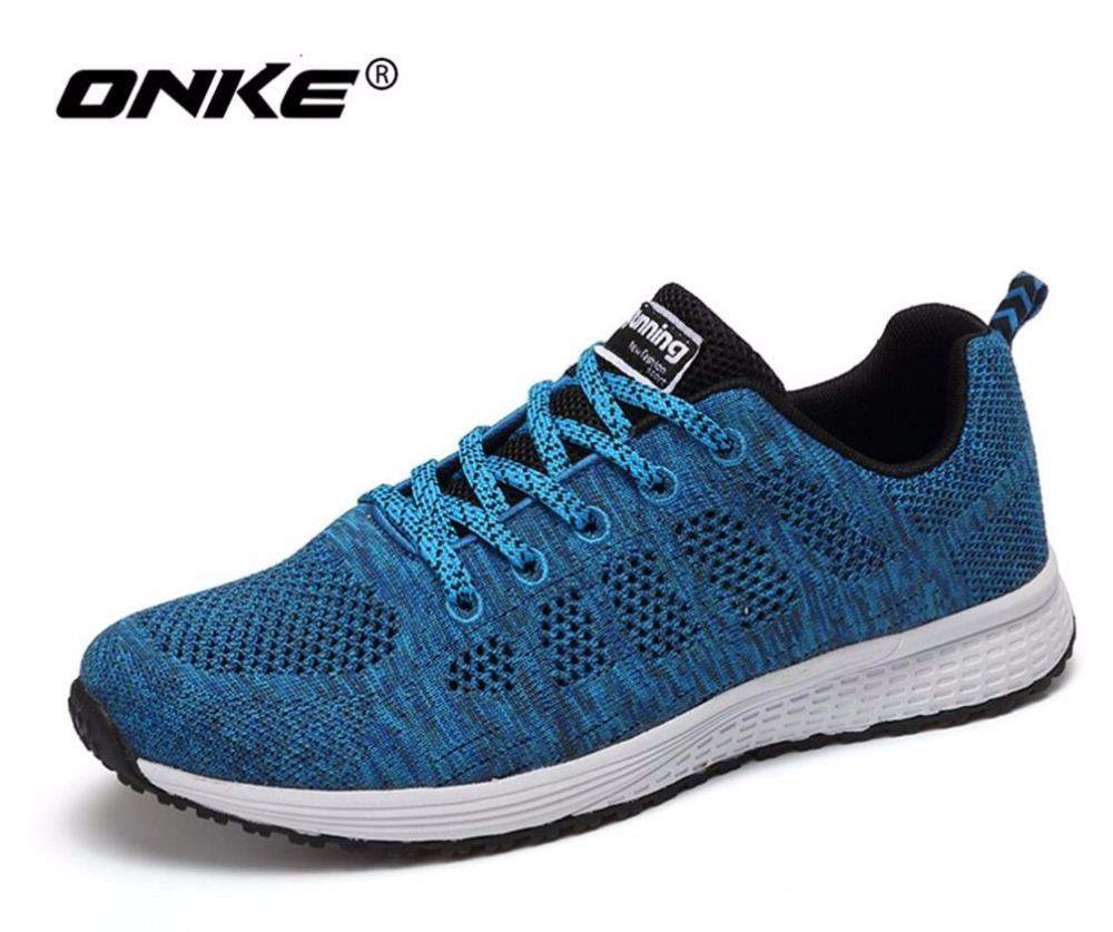 ONKE New listing of Hot sales Summer Breathable Fly line Women & Men running shoes sneakers sports shoes A08A