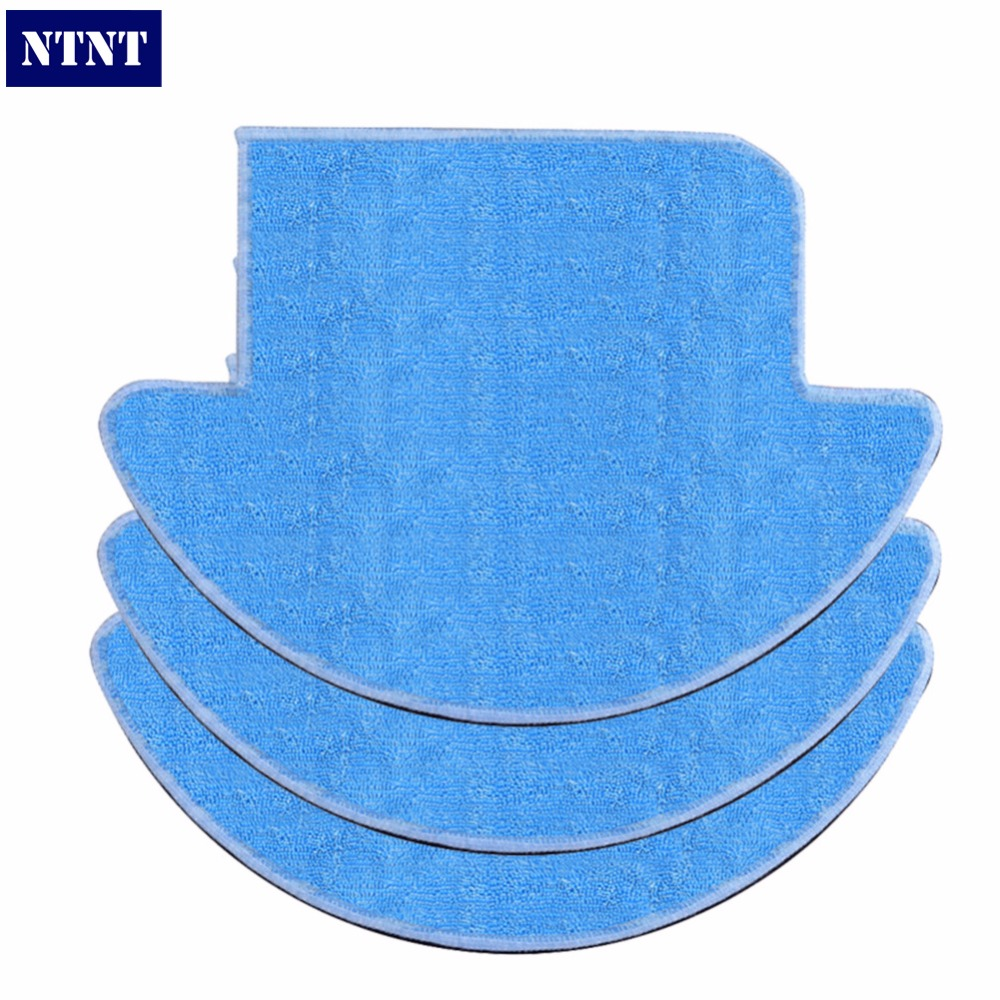 NTNT 3 pcsx ILIFE Robot Vacuum Cleaner MOP Cloth Fiber for ILIFE V7S Replacement Mop Cleaning Robot Vacuum Cleaner Mop 12pcs lot high quality robot vacuum cleaner wet mop hobot168 188 window clean mop cloth weeper vacuum cleaner parts