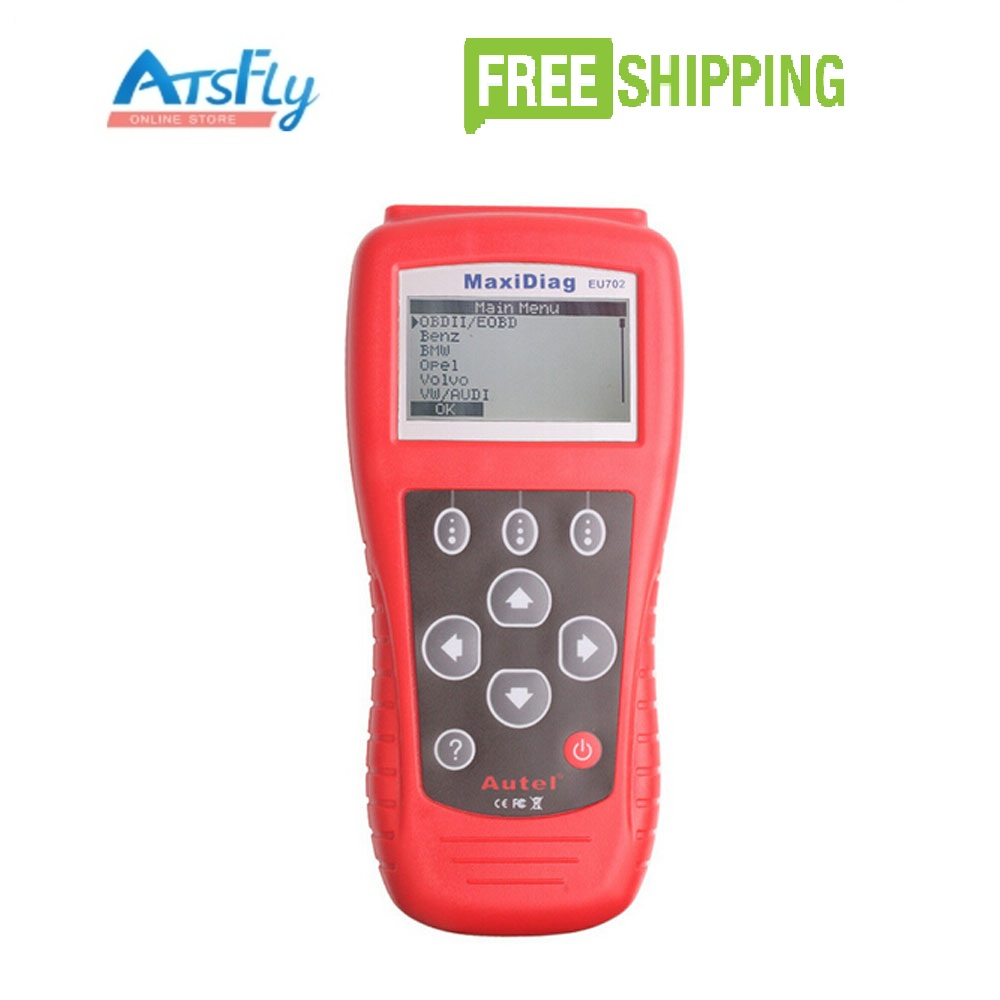 Autel Maxidiag EU702 Code Reader OBD2&EOBD Scan tool 100% original autel maxidiag elite md701 all system ds model obdii auto code reader md 701 for japanese cars