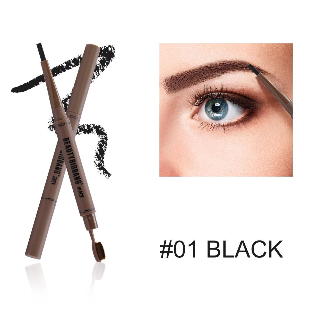 BEAUTYBIGBANG Eyebrow Pencil Double Head Black Brown Eye Brow Pencil Sobrancelha Maquillaje Maquiagem Profissional Completa