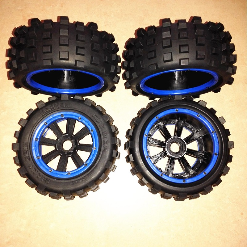 MadMax high strength wheel hub with nail tyre waterproof tire and wheel nut for 1/5 TRAXXAS X-MAXX RC Monster Truck