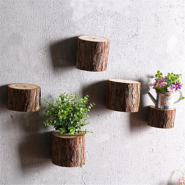 Okragly Ozdoby Drewniane Rzemiosla Coaster Galezi Drzewa Plastry