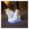 2017 Women Colorful Glowing Shoes with Lights Up Led Shoes Women Casual Luminous Shoes Platform Increase Led Shoes for Adults