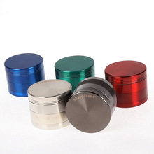 New Dry Herb Tobacco Grinder Metal Zinc Alloy Gunblack Pipes For Smoking Weed 50MM 40MM Spice