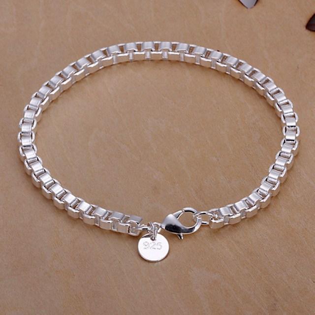 0c9758112c2d Verano estilo de Plata de Ley 925 pulsera de plata 925 pulsera de plata- joyería