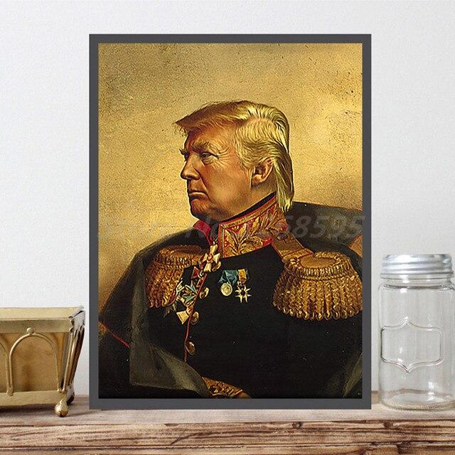 Дональд Трамп портрет HD Wall Art Холст плакат и печати холст декоративная картина для офиса Гостиная Home Decor