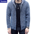 Brand Clothing Cardigan Christmas Sweater Men Thick Winter Sweaters Outerwear Kerst Trui Warm Sueter Hombre Velvet Trui Mannen