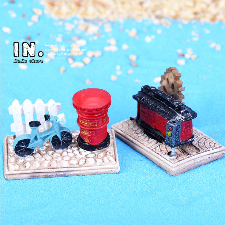 Anime Totoro Railway Platform home Micro fairy garden figurine kawaii miniatures/terrarium doll house decor ornament accessories