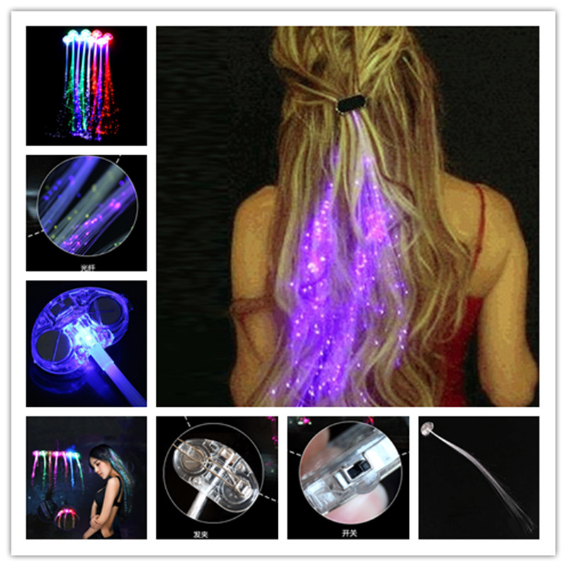 Celebration Supplies For  Easter Lighting LED Hair Braid Clip Hairpin Multicolor Flash Light Birthday Neon Party Dance 6ZHH065 gorros femininos
