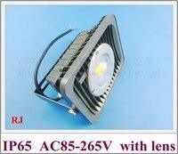 Новый стиль Светодиодный прожектор лампы светодиодный проекта прожектор Пейзаж AC85-265V с объективом водонепроницаемый IP65 CE ROHS CW/ WW