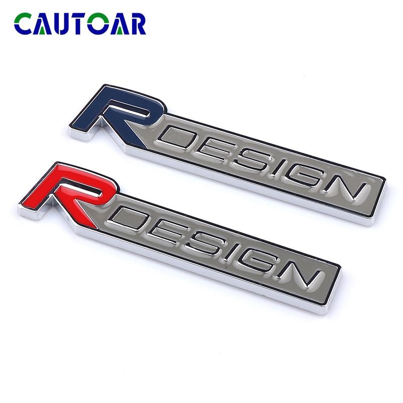 Adesivo emblema para carro, etiquetas 3d de metal rdesign para volvo xc90 s60 cx60 v70 s80 v40 v50 s40 xc70 v60 c30 xc40 c70 v90