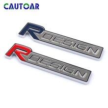 3D metal Rdesign Emblem Car R DESIGN Stickers Badge Decal For Volvo XC90 S60 CX60 V70 S80 V40 V50 S40 XC70 V60 C30 XC40 C70 V90