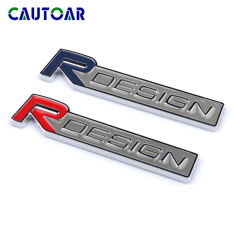 3D metal Rdesign Emblem Car R DESIGN Stickers Badge Decal For <font><b>Volvo</b></font> XC90 <font><b>S60</b></font> CX60 V70 S80 V40 V50 S40 XC70 V60 C30 XC40 C70 V90 image