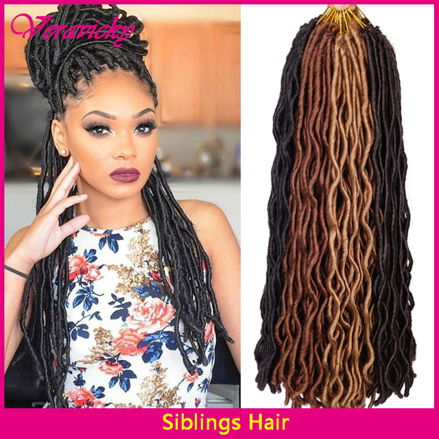 2424roots Wavy Faux Locs Crochet Hair Janet Collection 2x Havana
