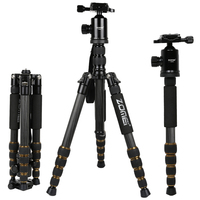 ZOMEI Z699C Carbon Fiber Portable Tripod With Ball Head Compact Travel For Canon Sony Nikon Olympus
