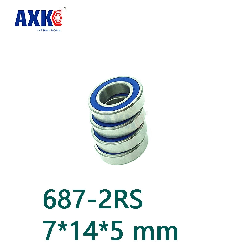 Axk 10pcs 687-2rs Rubber Sealed Deep Groove Ball Bearing 687 687rs 7x14x5 Miniature Steel Ball Bearings 7*14*5 Mm 1pc 6217 2rs 6217rs rubber sealed ball bearing 85 x 150 x 28mm