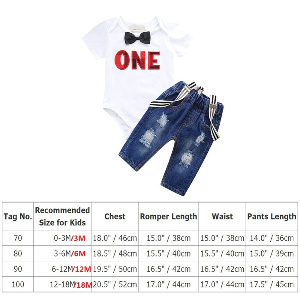 Cute 1st Birthday Outfit for Boy Birthday Party Cake Smash Outfit 2pcs Baby Boy Suspender Pants Romper Letter Boys Clothse in Clothing Sets from Mother Kids