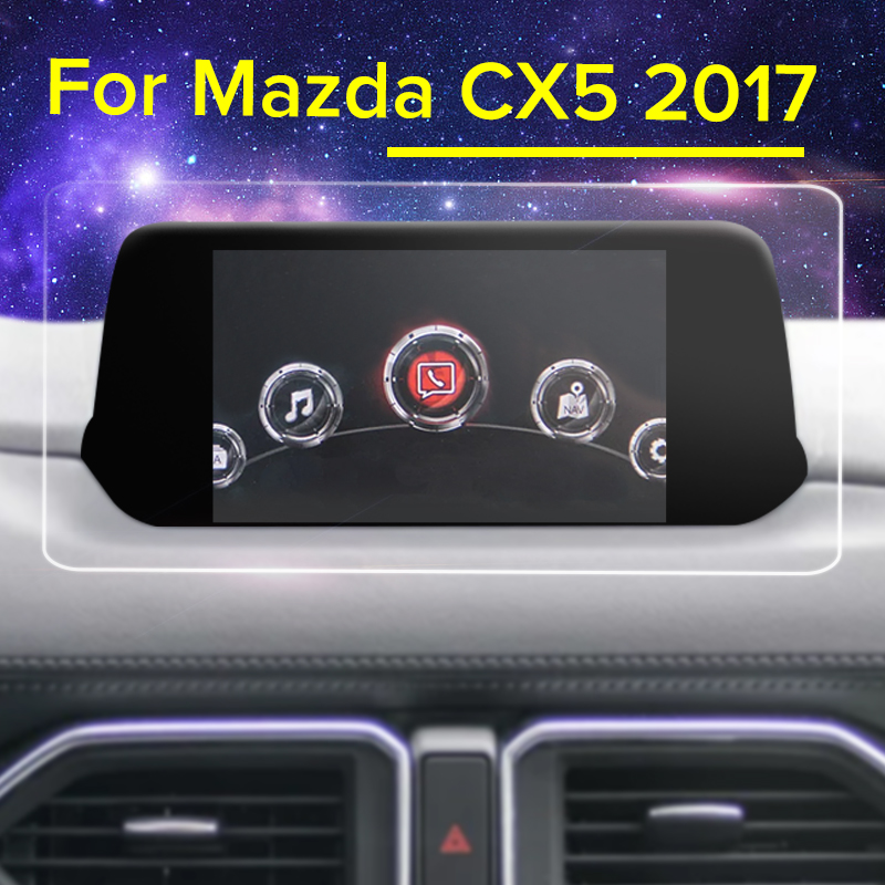 Car GPS Navigation Screen Sticker Tempered Glass Screen Protector Film for Mazda CX5 CX-5 CX 5 2017 2018 Car Styling Accessories benks tempered glass for xiaomi 5 2 5d radians screen protector