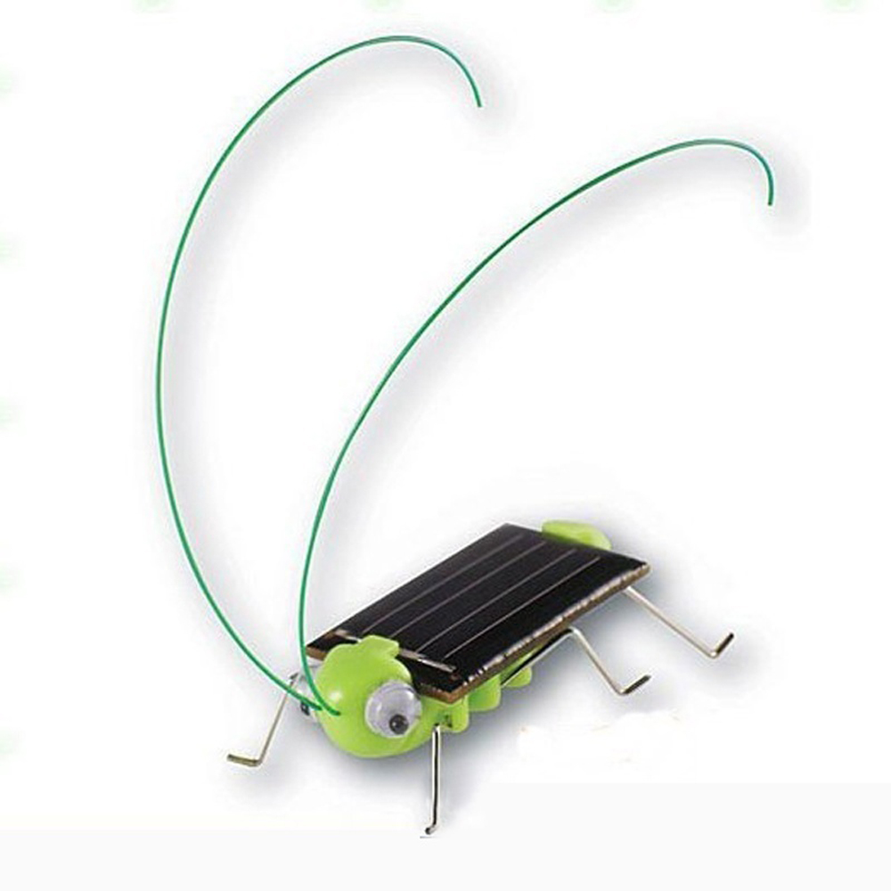 Plastic Solar Power Grasshopper Cricket Robot Insect Teaching Baby Kid Toy Gift